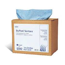 Chiffons tout-usage à distribution facile, bleus, Dupont Sontara