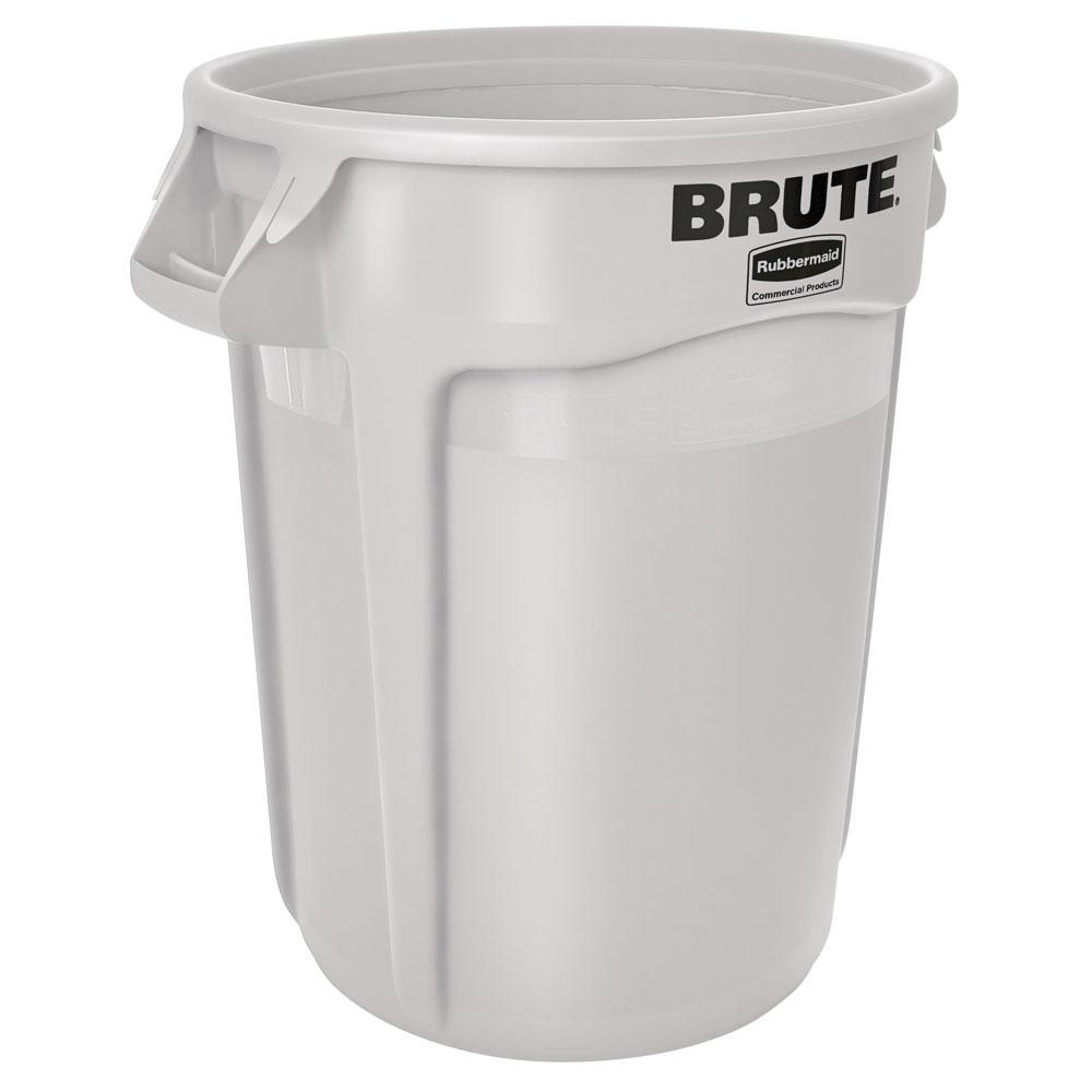 Poubelle Brute avec poignée, blanche, Rubbermaid