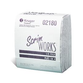 Chiffons à 4 épaisseurs, pliés ¼, Scrim-WORKS