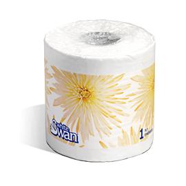 Papier hygiénique à 1 épaisseur, White Swan – 5113