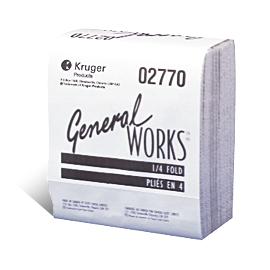 Chiffons à 2 épaisseurs, pliés ¼, blancs General-WORKS