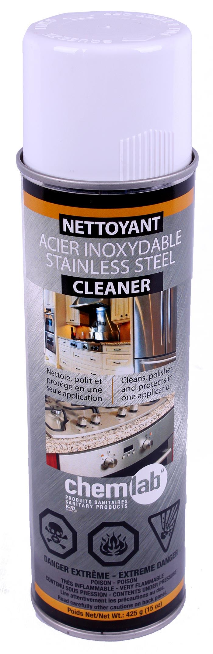 Aérosol – Nettoyant acier inoxydable