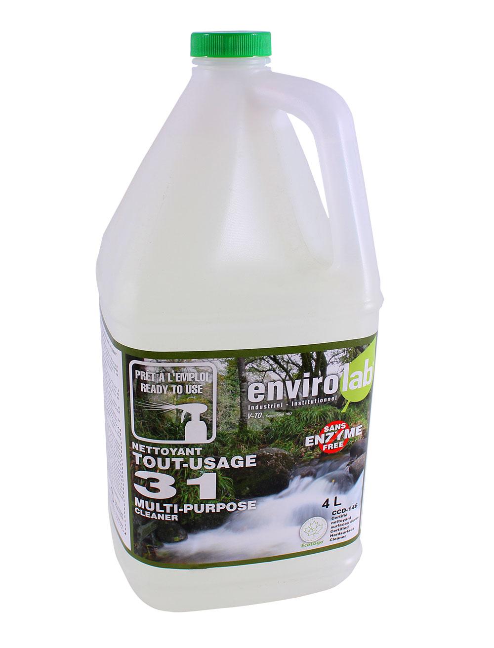 Envirolab 31 – Dégraisseur prêt à l'utilisation, biodégradable