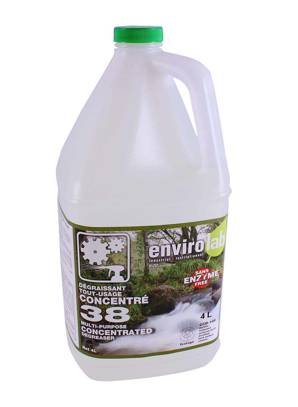 Envirolab 38 – Dégraisseur concentré tout usage, biodégradable