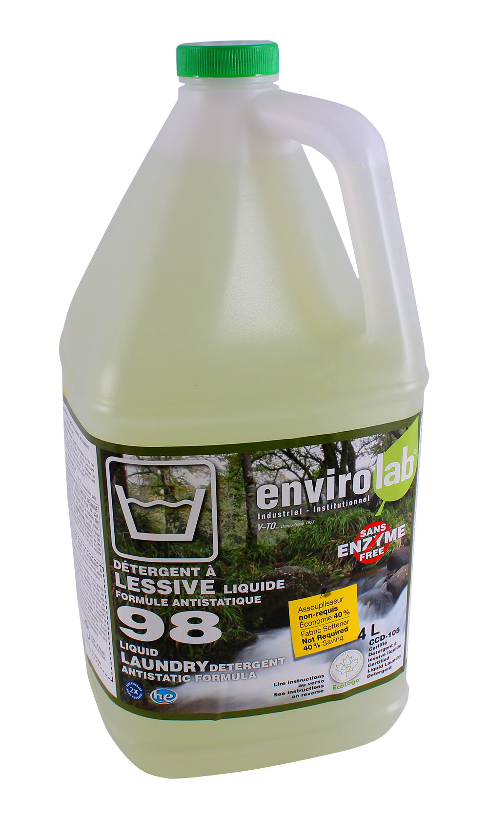 Envirolab 98 – Liquide lessives antistatiques, biodégradable