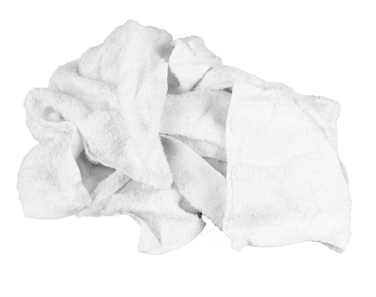 Guenille en ratine blanche recyclée
