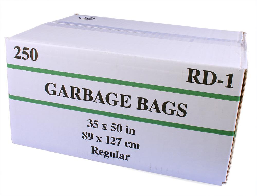 Sacs à ordures 35 par 50 réguliers clairs