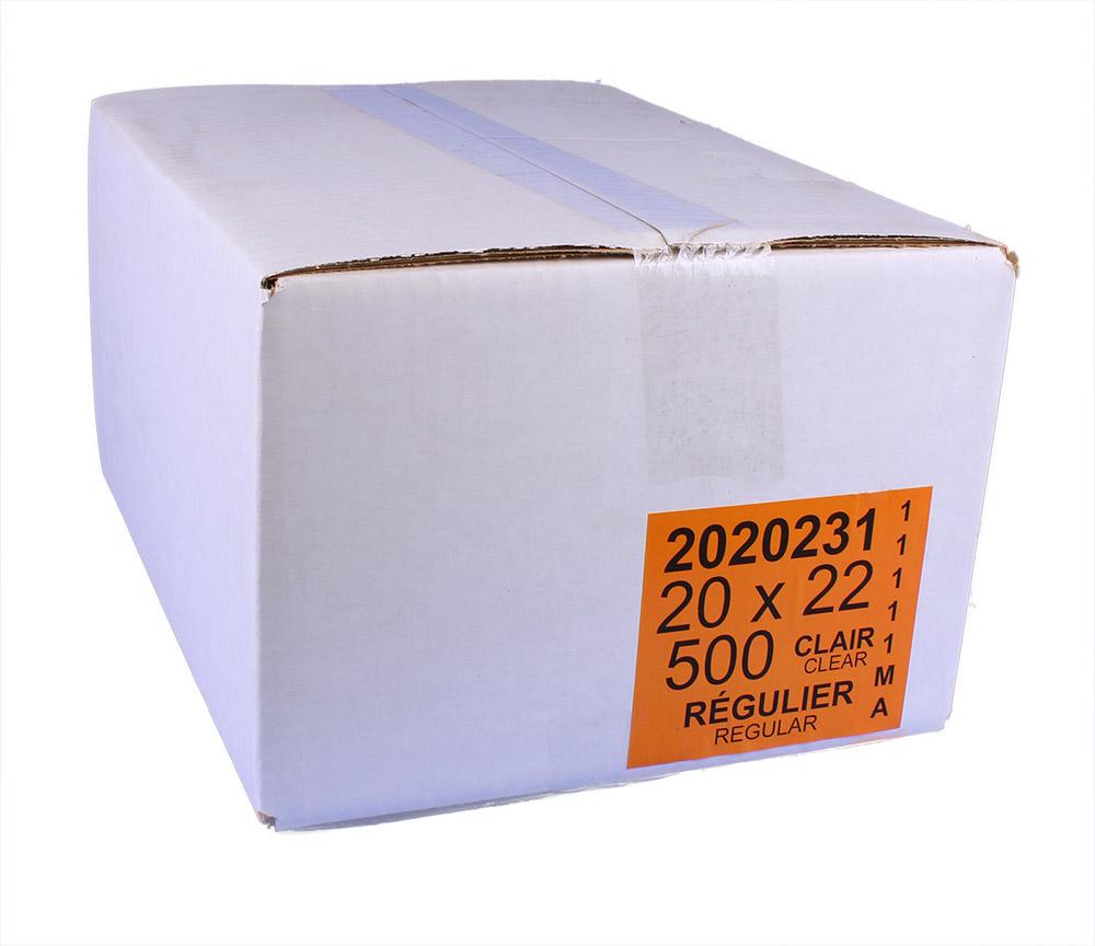 Sacs à ordures 20 x 22 réguliers clairs