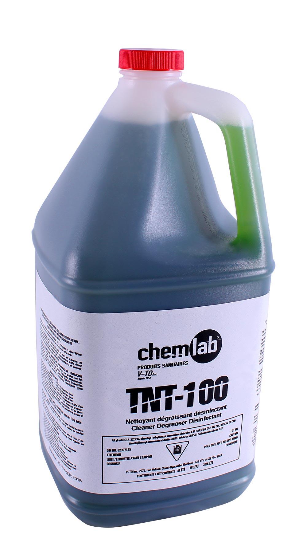 TNT-100 – Désinfectant, microbicide, assainisseur, fongicide et désodorisant