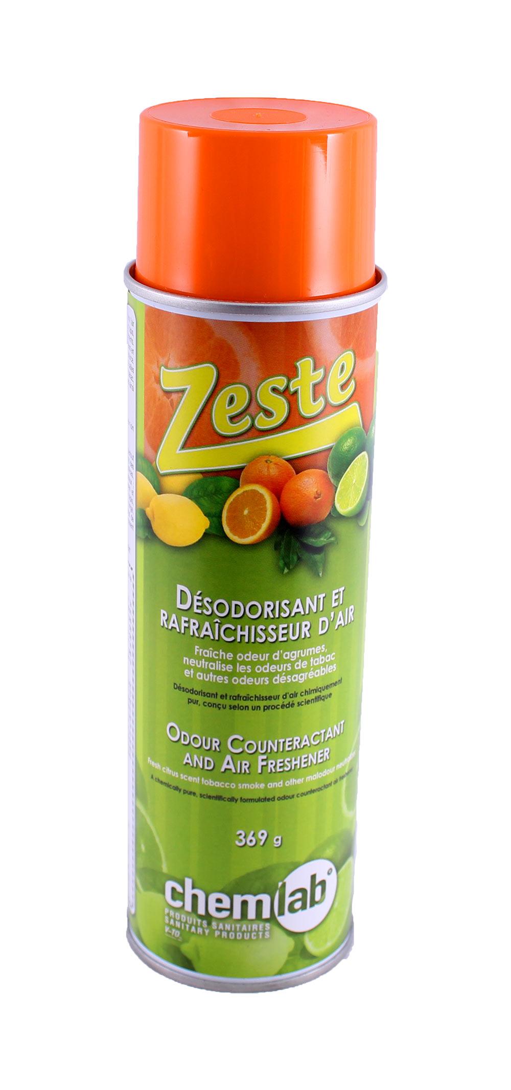 Zeste – Déodorant  aux agrumes, concentré
