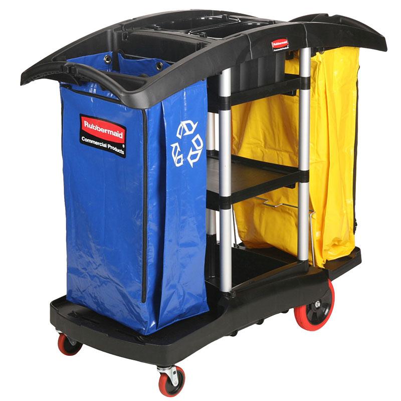 Chariot de nettoyage et de recyclage Rubbermaid FG9T7900