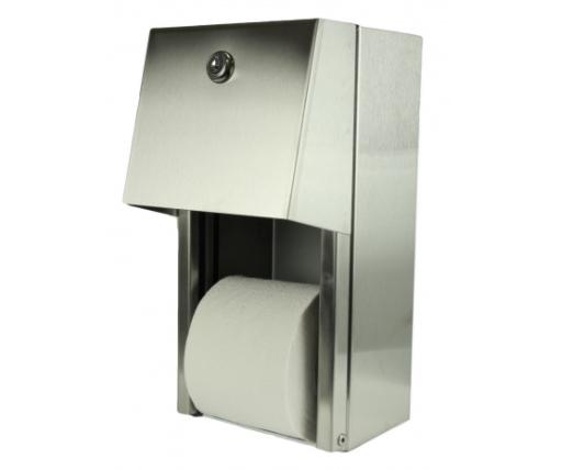 Rouleau distributeur de papier toilette avec contenant de réserve – FR165
