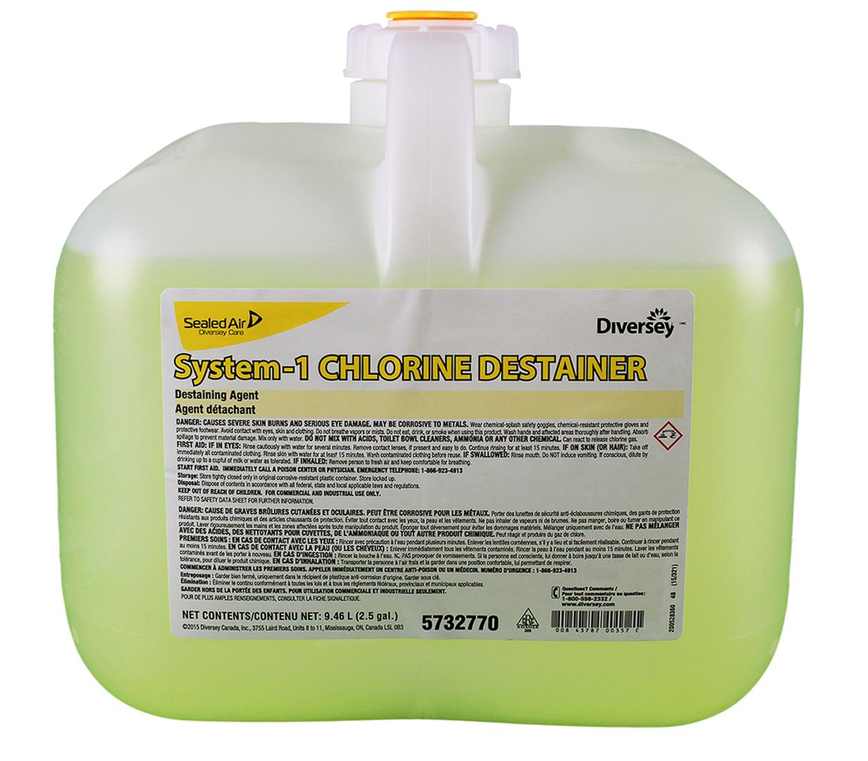 System-1 chlorine destainer – Détachant chloré pour la lessive