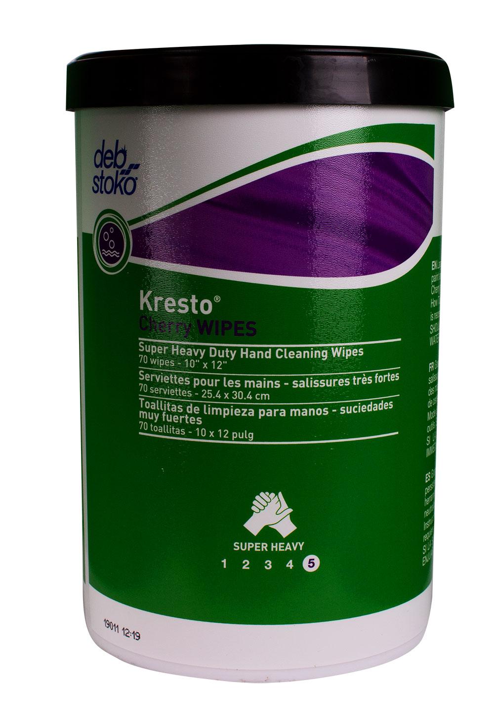 Lingettes nettoyantes pour les mains Kresto à la cerise